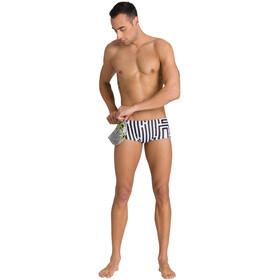 arena Crazy Labyrinth Shorts Cintura Baja Hombre, blanco/negro